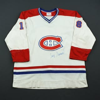 Savard, Serge* White - Name on Back Removed - Autographed Montreal