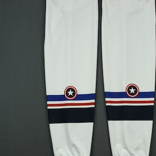 BLANK White - Captain America - Game-Issued - Socks Maine Mariners 2018-19