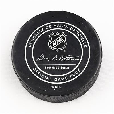 Columbus Blue Jackets Game-Used Puck September 22, 2017 vs. Columbus
