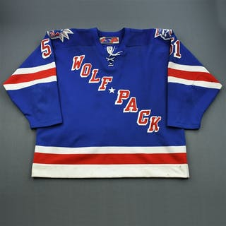 Gillies, Trevor * Royal Blue Alternate Hartford Wolf Pack 2004-05 #51 Size: 58