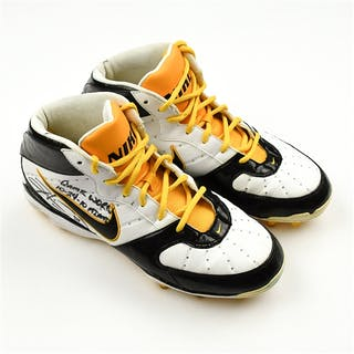 Ward, Hines * Nike white w/black and gold trim - Autographed and Inscribed