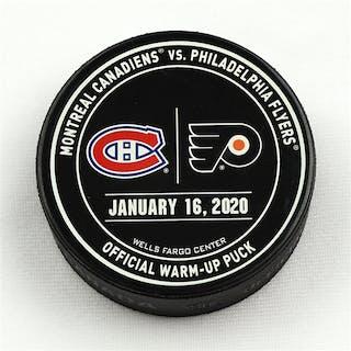 Philadelphia Flyers Warmup Puck January 16, 2020 vs Montreal Canadiens