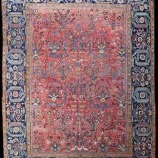 Antique Fereghan carpet