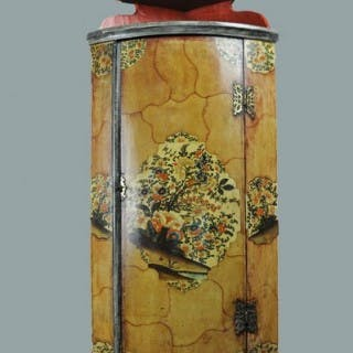 18th century painted Dutch Corner Cupboard