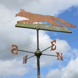 'Fantastic Mr Fox' An early 20th century iron and zinc weathervane