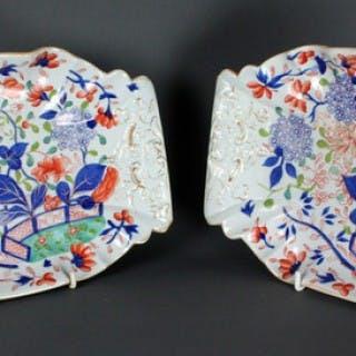 A pair of Mason's Ironstone China dessert dishes
