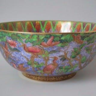 Wedgwood lustre Argus pheasant bowl