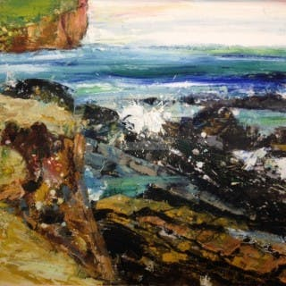 Brough of Birsay - Skipi Geo I by Peter McLaren (Scottish contemporary)