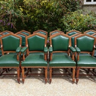 Set of 18 19th Century Dining Chairs by Thomas Fox of London (c. 1860 London)