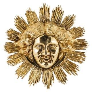 Gold Apollo Sun King Pendant