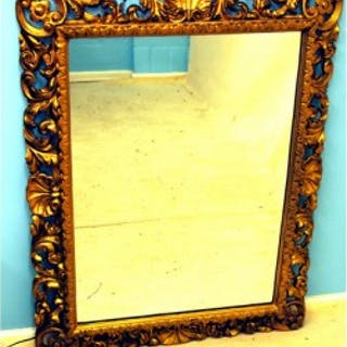Antique Italian Gilt Wood Wall Mirror