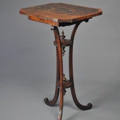 Unusual Late 18th century Tripod Table on Triform Base