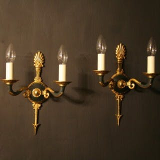 A French Pair Of Empire Antique Wall Lights