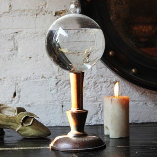 A Wonderful Early 19thC Lace Makers Magnifying Flask or Flash Globe
