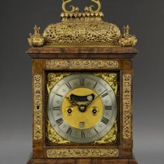 A fine William and Mary quarter repeating spring table clock, by JAMES