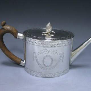 Antique Silver George III Teapot