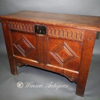 A Small 17th century Oak coffer