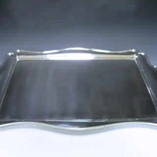 An Edwardian Silver Two-Handle Tray