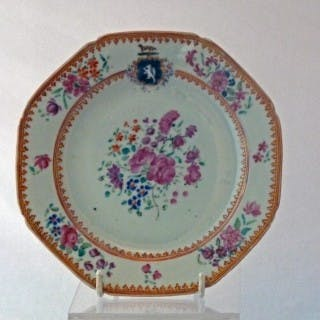 Chinese Qianlong Armorial Famille Rose plate