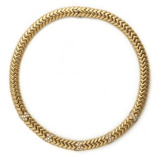 Bvlgari 18ct Yellow and White Gold Tubogas Necklace