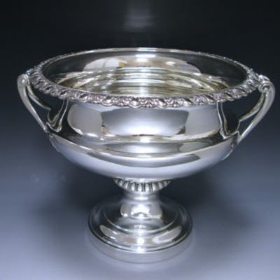 Edwardian Antique Silver Large Bowl