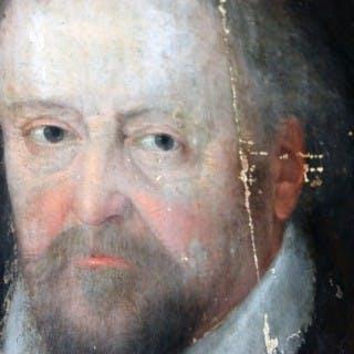 An Interesting Late 17thC English School Oil on Oak Panel Portrait