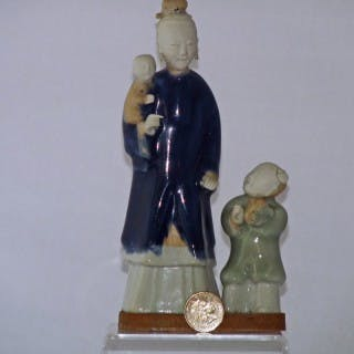Yongzheng Biscuit Porcelain Figural group