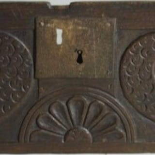 A Mid 17th Century Carved Oak Panel