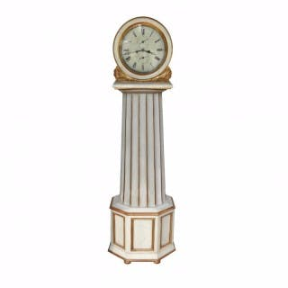 Antique Giltwood and Painted Longcase Clock, c.1840