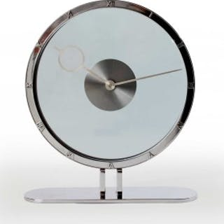Art Deco mechanical desk clock timepiece
