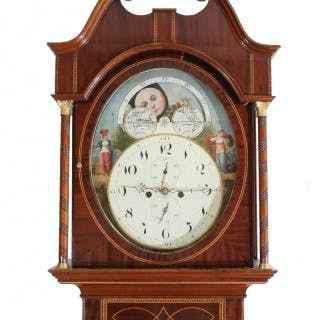 Rare oval dial Longcase Clock by Thorp, Abberley