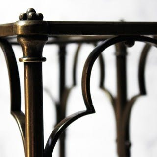 A Fine Victorian Gothic Revival Brass & Oak Umbrella/Stick Stand c.1870-90