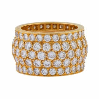 Gold and Diamond Eternity Ring by Cartier