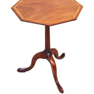 Antique Georgian Octagonal Mahogany Wine Table