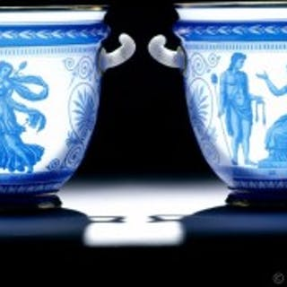 Pair of Cameo Glass Vases