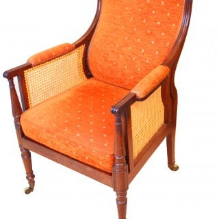 Antique Regency Mahogany Bergere Chair