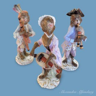Meissen Porcelain Monkey Musicians