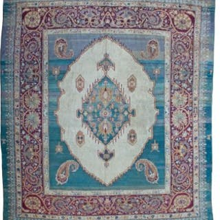Antique Agra carpet, dated 1867