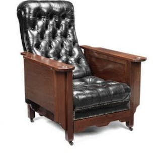 An early 20th century mahogany 'Glenister's patent' reclining gaming