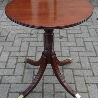 18th Century George III Period Mahogany Antique Wine Table Lamp Table