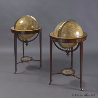 Pair of Eighteen Inch Library Globes
