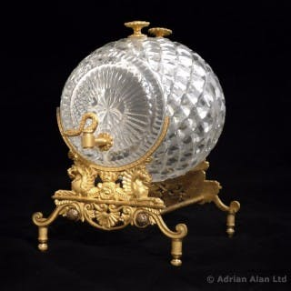 Charles X Crystal and Gilt-Bronze Spirit or Perfume Dispenser