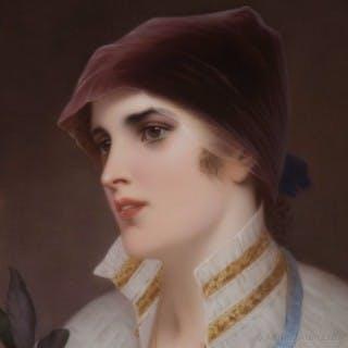 KPM Porcelain Plaque of a Young Woman