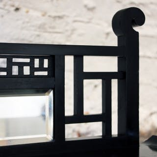 An Attractive Aesthetic Movement Ebonised Étagère in the Manner of