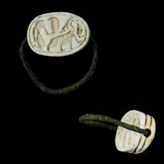 Hyksos Scarab Swivel Ring