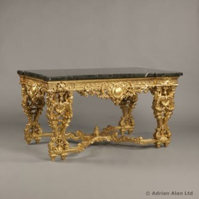 A Finely Carved Louis XIV/Regence Style Giltwood Centre Table