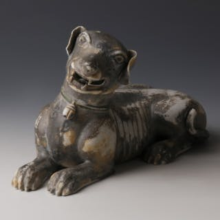 Chinese Kangxi Glazed Porcelain Dog