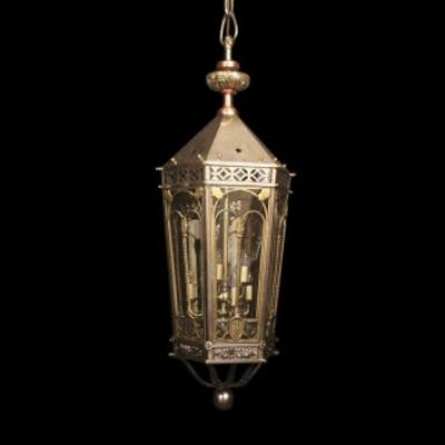 English Monumental 6 Light Antique Lantern
