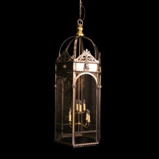 French 8 Light Monumental Cherub Lantern