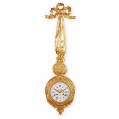 Antique French ormolu cartel clock by Autray Fils, Paris